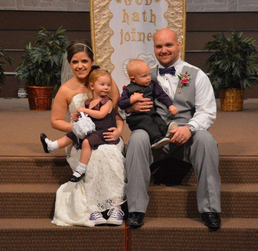 Maddie with Elizabeth, Brandall, & Eli the ring bearer (Photo © Jennifer Reynolds at Dottie Loo Photography, used with permission)