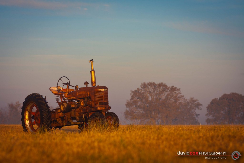 Antique International Harvester Tractor at Sunrise in Normangee, Texas by David Cox Photography - http://davidcox.org