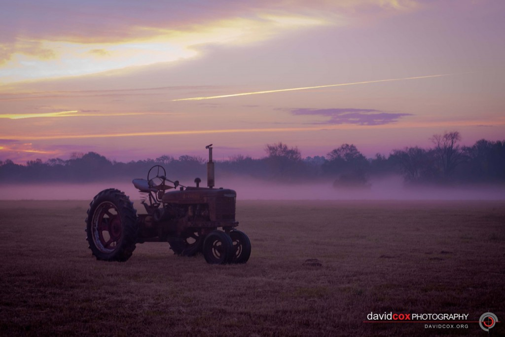 Antique International Harvester Tractor at Sunrise in Normangee, Texas by David Cox Photography - http://davidcox.org/photo