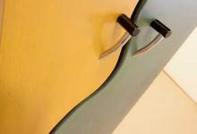 Closeup Detail of Modern CD Cabinet