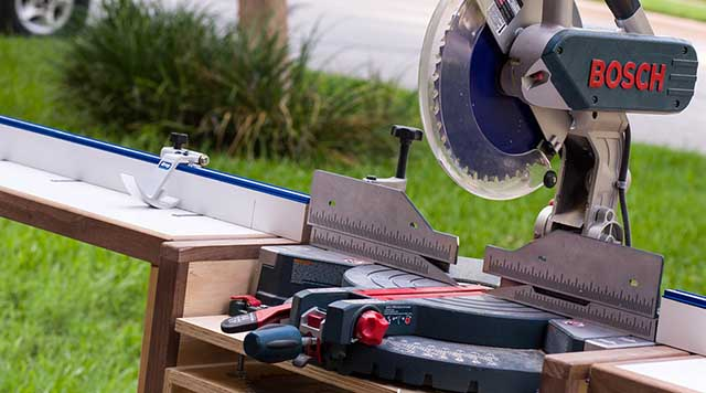Rolling Folding Chop Saw Stand